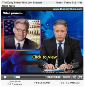 Jon Stewart Takes On 30 Republicans Who Voted Against Franken Rape Amendment (VIDEO)-1