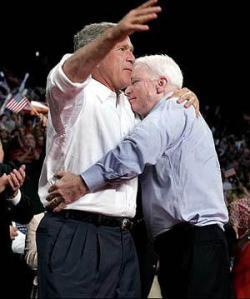 mccain bush hug
